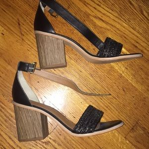 Anthropologie chunky heels